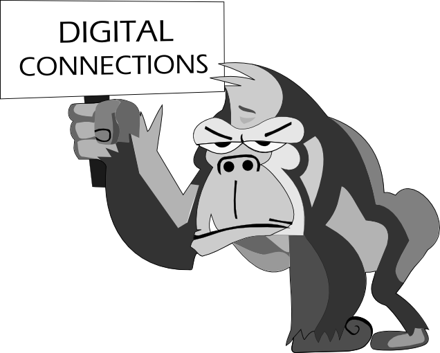 #TTSDigital #Digiconn Jamies drawing has been converted into a vector. Kevin the Guerilla Gorilla is born! http://t.co/7u2roBImhO