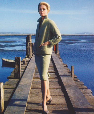 "Tippi Hedren on Twitter: ""Melanie Daniels' green suit from ""The Birds"",  designed by Edith Head http://t.co/Gn6CaFrL5n"""