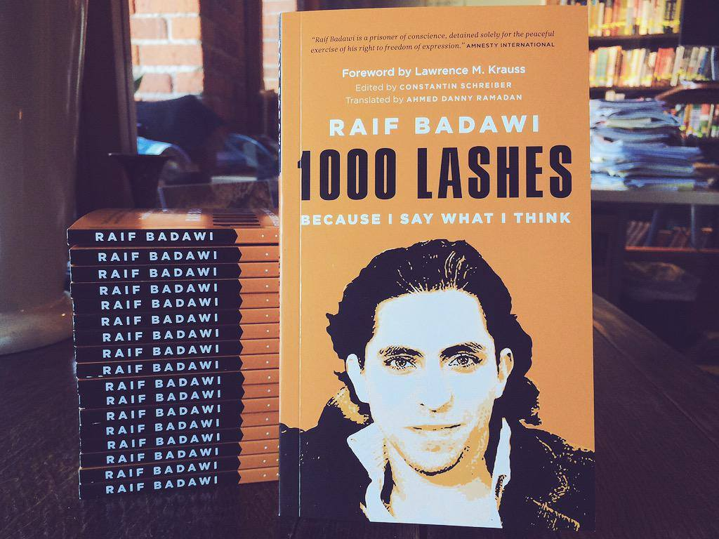 raif_badawi 's book in ENGLISH - '1000 Lashes - Because I Say What I Think'  here soon. http://bit.ly/1JDdWck pic.twitter.com/cfV1o574Vc