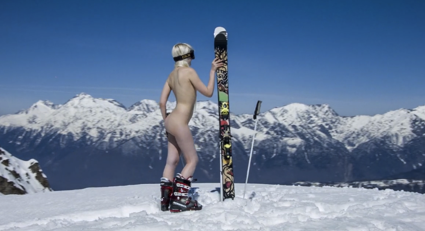 Naked sledding pictures nude sledge race held in germany