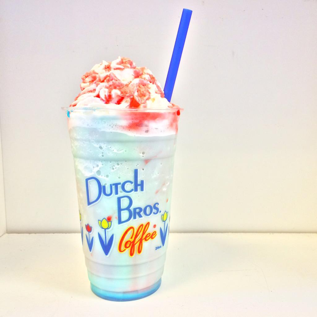 dutch bros corvallis on cotton candy frost red dutch bros corvallis on cotton candy frost red raspberry drizzle on special tomorrow for 2 16oz 3 24oz 4 32oz happy 4th