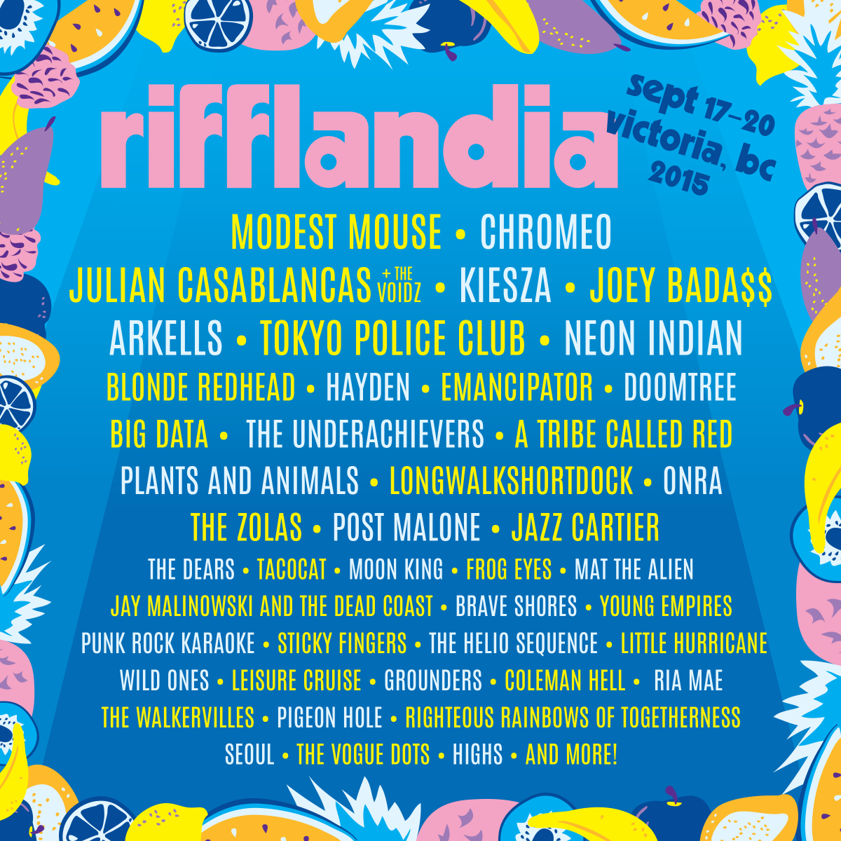 Another 24 artists announced! See you at Rifflandia this September 17-20! #Riff2015 http://t.co/mW8XV6g9ns