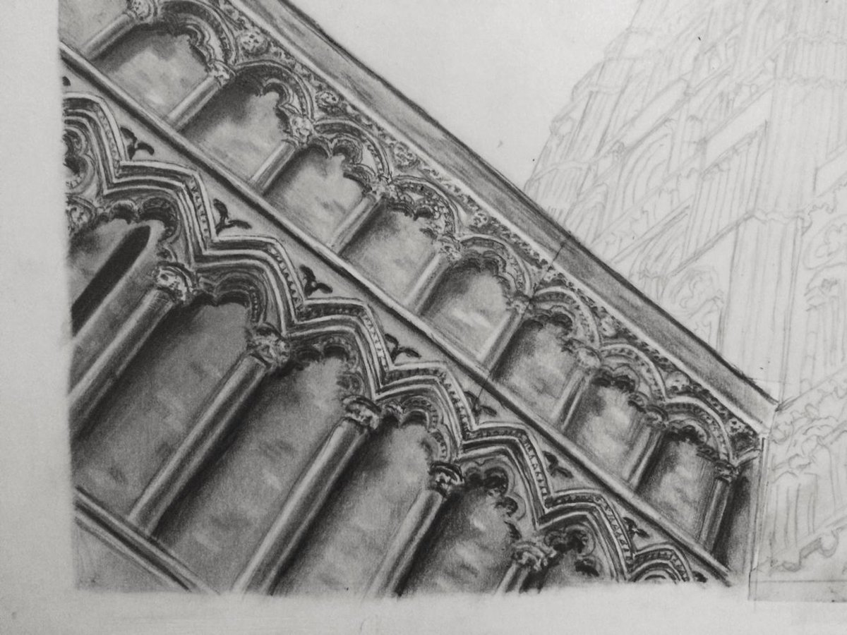 Latest progress on my http://t.co/J2sgzgMLBi #Drawing practice of @Ely_Cathedral http://t.co/QwASBoBeaE