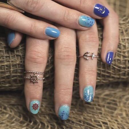 Kiss Products On Twitter Recreate This Ombre Glitter Nautical