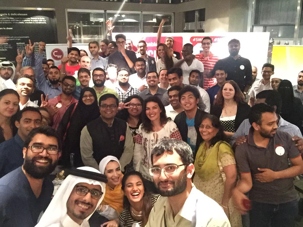 The #KhanSelfie from the @Mashable #SMDayQR celebration during #Ramadan in #Doha #Qatar #SMDay #SocialMediaDay2015 http://t.co/SpwfkbSsvf