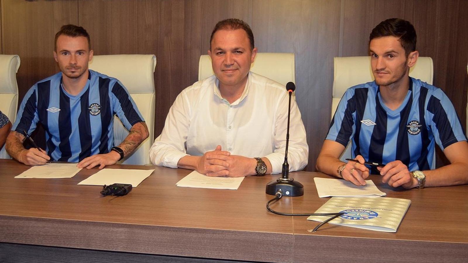 Mojsov was introduced on Friday; photo: Adana Demirspor