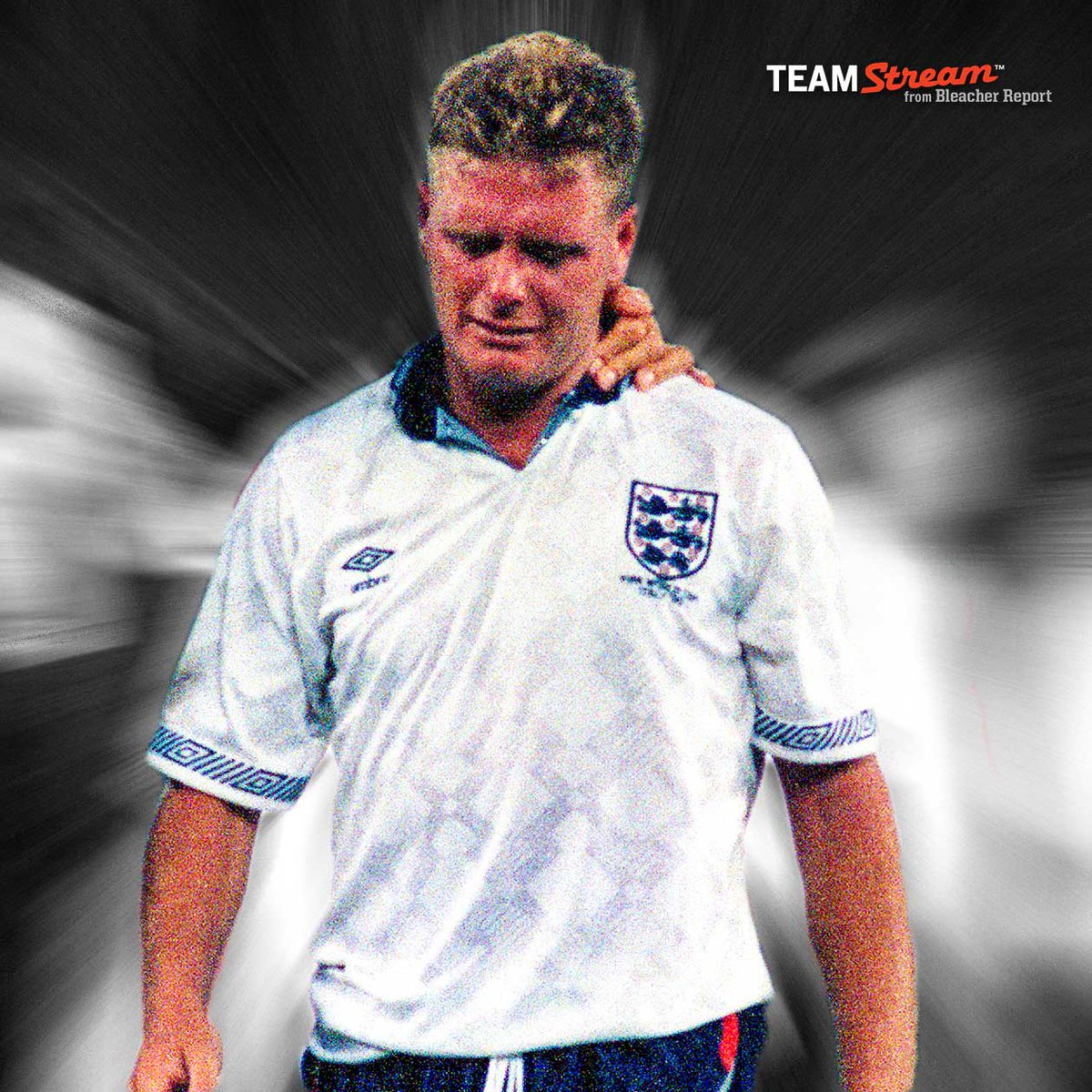 On this day 25 years ago—Gazza cried some of the most famous tears in football history as the World Cup dream died | B/R Football | Scoopnest