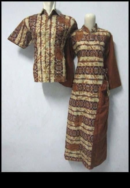 Java Mart Bkpl Batik Sarimbit Gamis Warna Coklat Krem Model