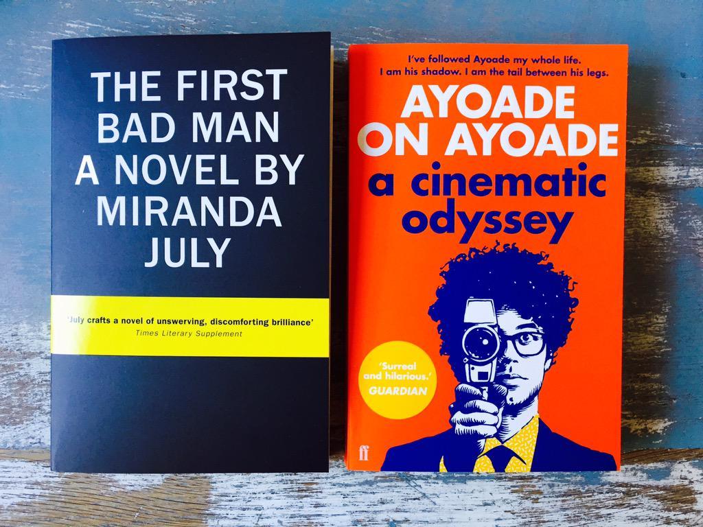 Two long-awaited paperbacks! That's summer sorted, thanks @Miranda_July @RichardAyoade @FaberBooks @canongatebooks http://t.co/JVzvlGaleh