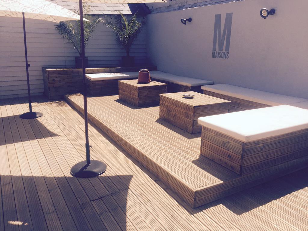 RT @maisonsbar: The terrace is ready for @Inspirednights tonight 🎉 1 table left 07468539406 @lewis_bloor @joeclark_8 @harry_eden1 http://t.…