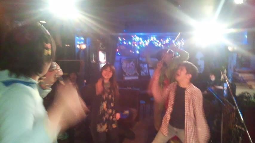 2015/04/25 土 の「御苑EXPO スポークンワーズ特集」。最後みんなで踊り狂ったり。