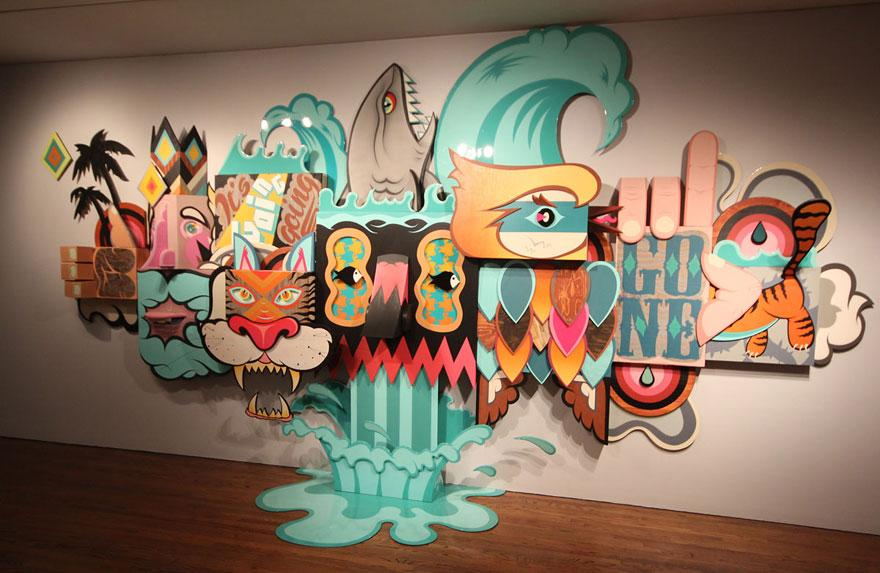 This museum let street artists in to do whatever they wanted on it walls. Absolutely stunning: http://t.co/KxTQFdZKuK http://t.co/46RrRgAIqQ