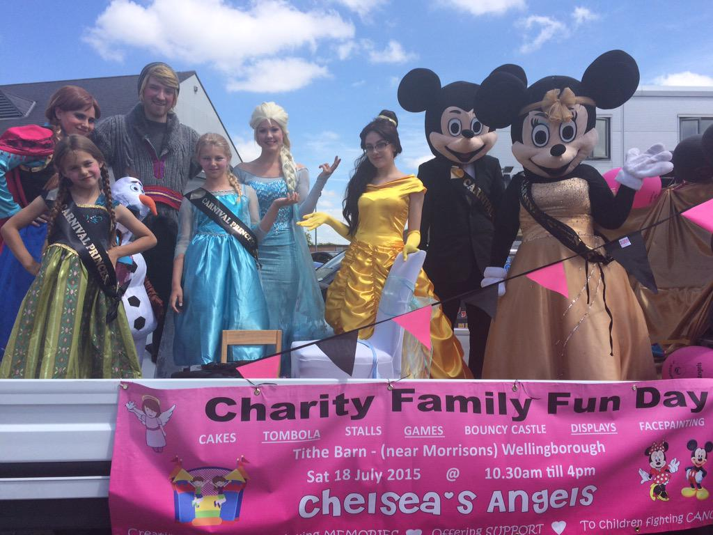 RT @BBCNorthampton: Once Upon A Perfect Party and Chelsea's Angels in today's #WellingboroughCarnival! http://t.co/w6Z0N3jnl3