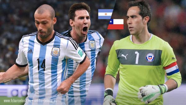 CILE ARGENTINA info streaming calcio diretta tv finale Coppa America Cile 2015
