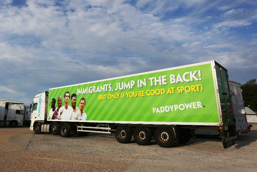 .@PaddyPower drives 'immigrant lorry' around Calais in latest stunt http://t.co/w6jmIX4qQ7 via @MarketingUK http://t.co/DRbRtuH0UG