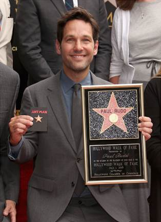 Paul Rudd on Hollywood's Walk of Fame