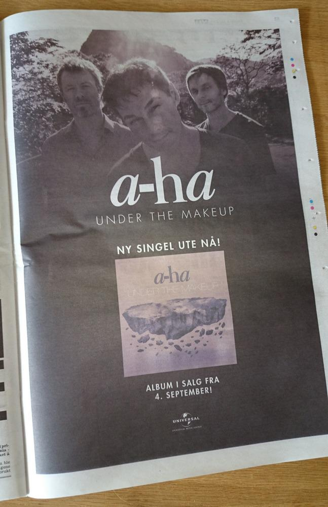 Full-page ad for the new single in VG yesterday: http://t.co/2oLnQNUkgY