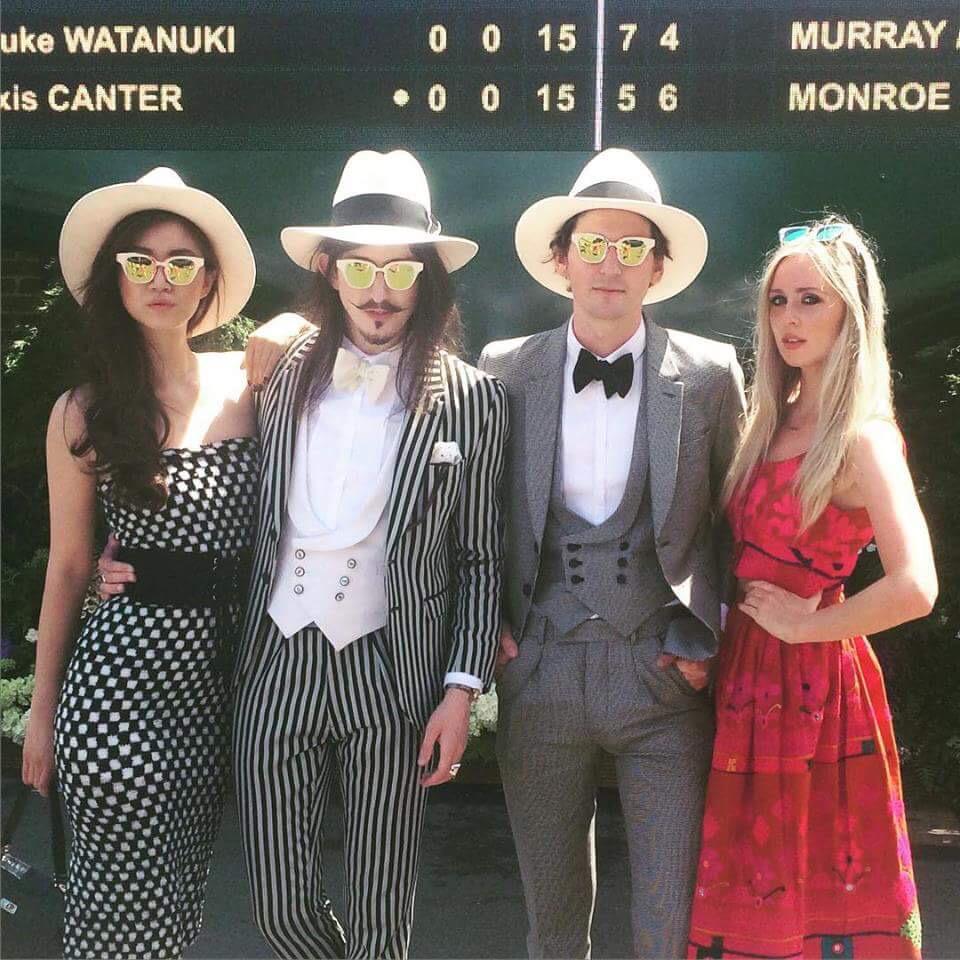 Didn't get the memo @joshuakanebespk @Georgecraigono @bettybachz  #Wimbledon #wimblehun http://t.co/lLfsoARq12