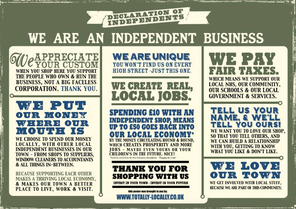 RT @AshbyTreats: It's 4th July. #Independents Day and we are proud to be independent along with lots of others in Ashby de la Zouch http://…