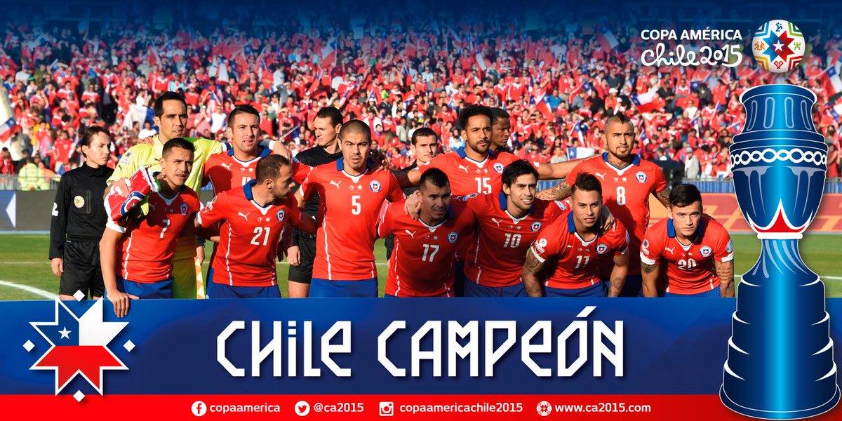 ¡Felicitaciones #Chile! Campeón de América por primera vez en la historia #Chile2015 http://t.co/QJ813mw2bd
