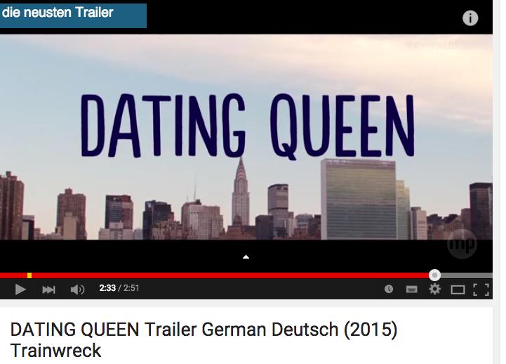Dating queen trailer german