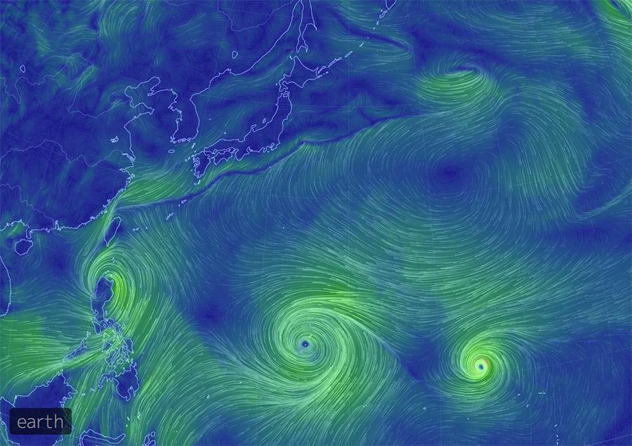 三日前のツイートですけど、このサイトほんとおもしろい。 RT @Yam_eye: 日本の南に東西に長く横たわる梅雨前線、その南には3つの台風が並ぶ。どうせいっつうの? http://t.co/o0AuCv1ci2 http://t.co/W0INKj6Ehk
