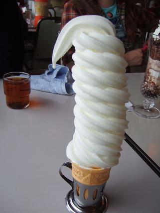 ソフトクリーム♡大きい〜!!食べてみたい♡♡ pic.twitter.com/tj7ruramBf