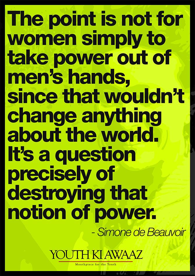 "Youth Ki Awaaz on Twitter: ""Do you agree? #SimoneDeBeauvoir ..."