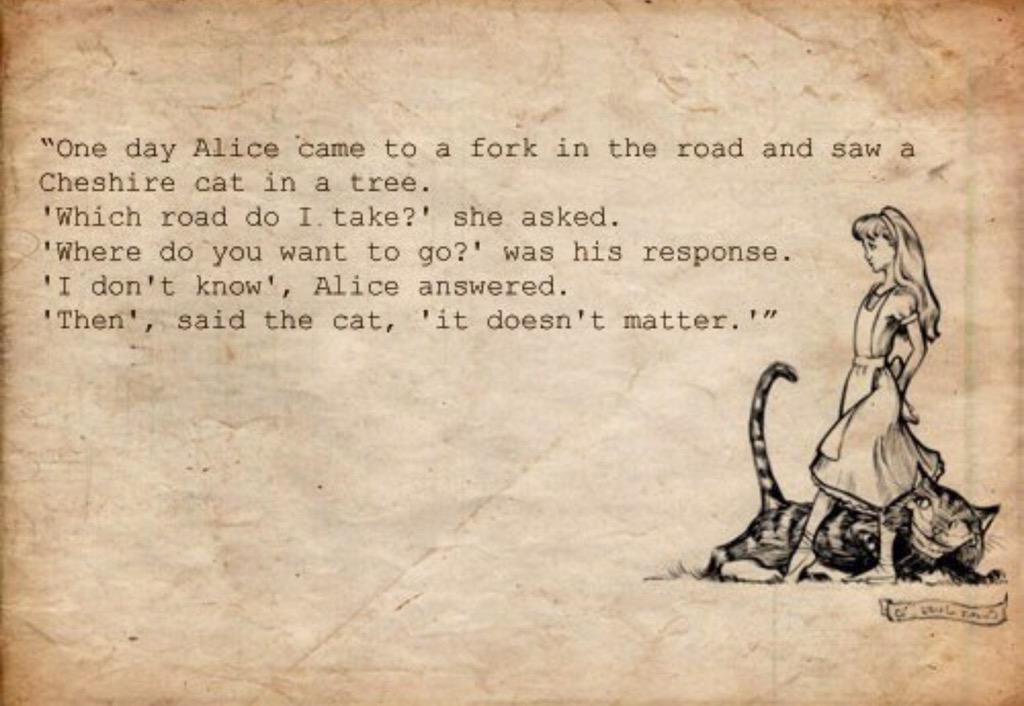 Alice in Wonderland by Lewis Carroll is 150 years old ... my favourite quote which at times I applied to my own life http://t.co/jwXfY6LPP7