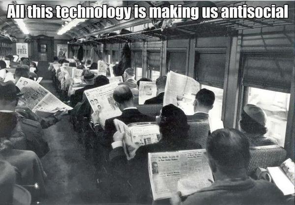 All this new technology is isolating us from each other. http://t.co/lG5x53JHQN