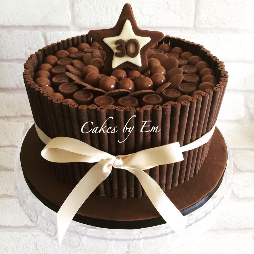 Cakes By Em On Twitter Chocolatey Birthday Cake To Celebrate Turning 30 Chocolate Happy Tco WxJUE5vjU6