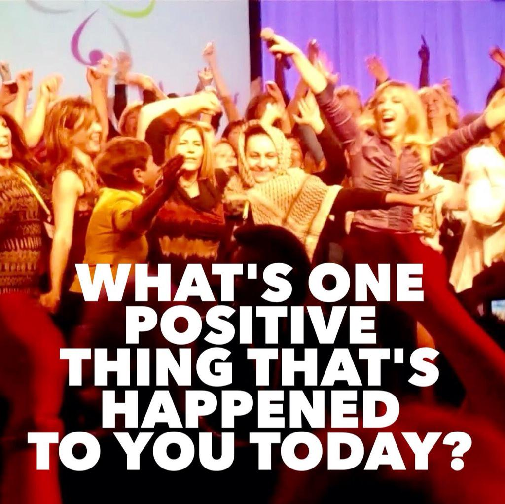 Ask your kids: What's one positive thing that's happened to you today? http://t.co/oraB39eUr4