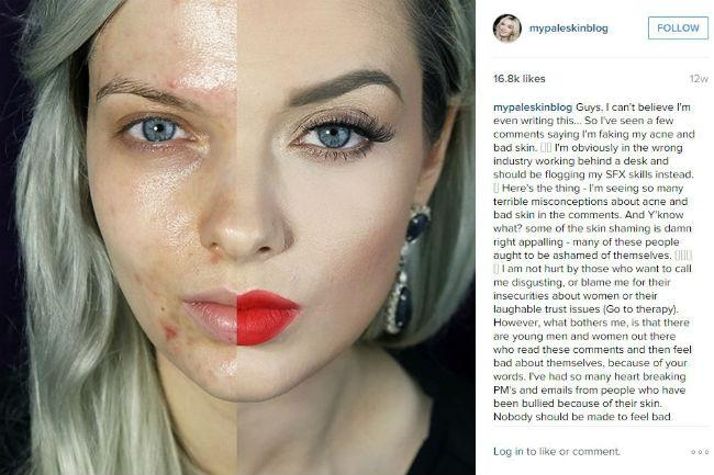 YouTube makeup star reveals ugly haters
