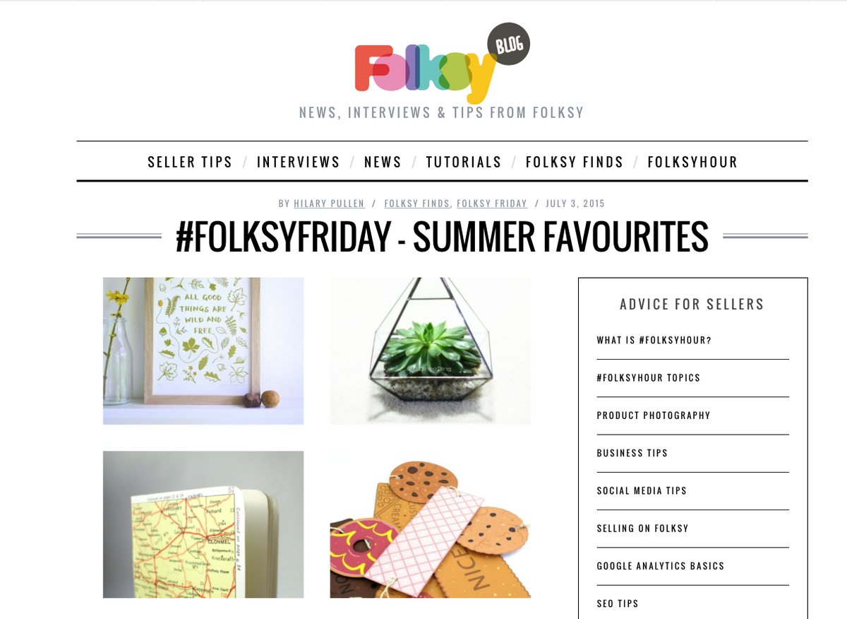 Catch my Summer Favourites on @folksy http://t.co/mFWKoFrp0R #bloggerslife #folksyhour #craftysellers #cbloggers http://t.co/uVS6NkNUZr