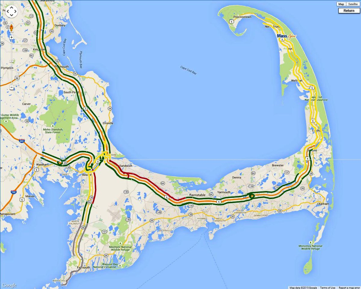traffic map cape cod Cape Cod Times On Twitter Cape Cod Traffic 12 Mile Backup To