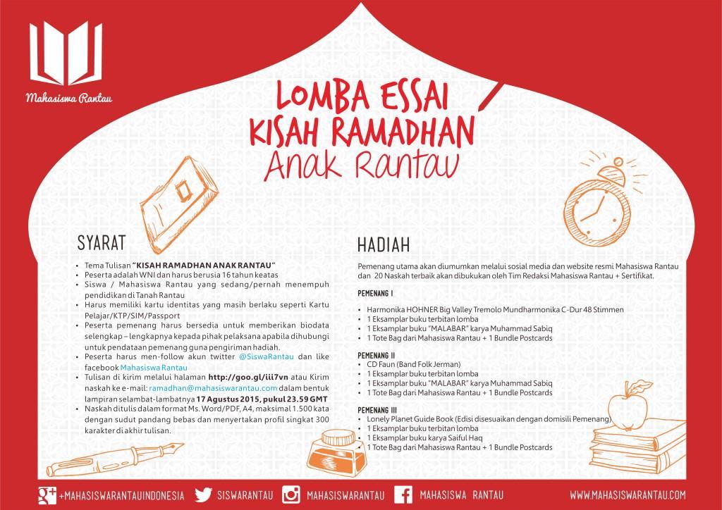 Lomba Essai Kisah ramadhan Anak Rantau