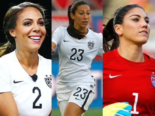 We're in awe of the US women's soccer team's sweat-proof makeup (& soccer skills). http://t.co/oAz6yEDVtj #USAvsJPN http://t.co/IIS5IRA09i