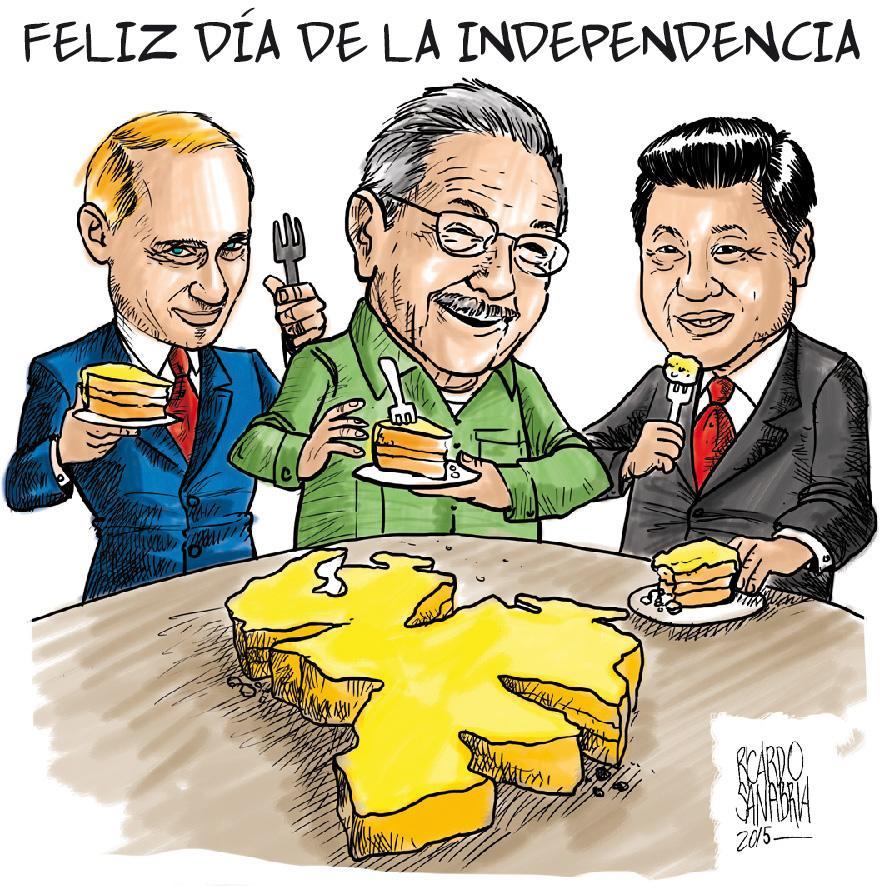 Resultado de imagen para Caricaturas de Maduro en el día de la Independencia