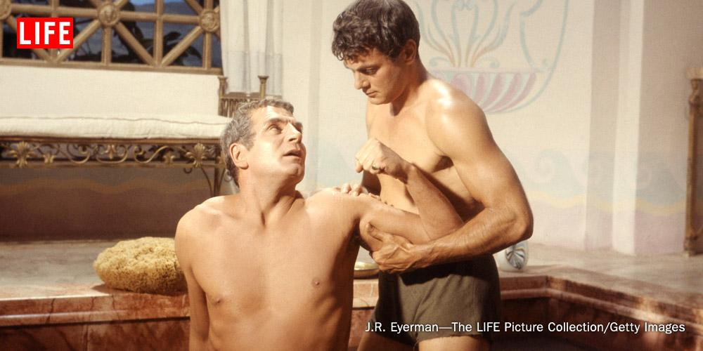 from Louis spartacus tony curtis gay scene