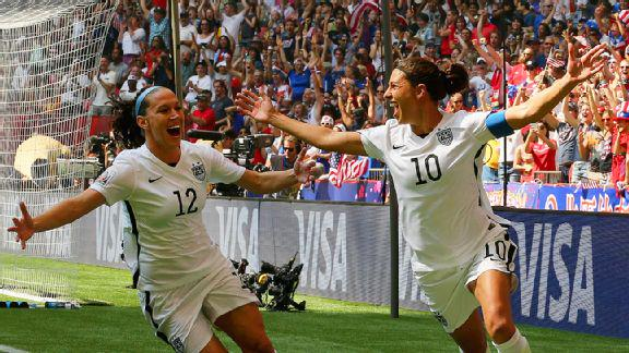 Hey America, time to party like it's 1999!  The #USA wins its first World Cup in 16 years with a 5-2 win over Japan.