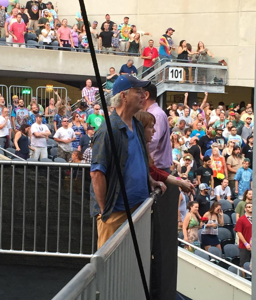 Bill Murray at the Dead show in Chicago. I knew I loved that guy. <3 #FareTheeWell http://t.co/9YROFABaQh