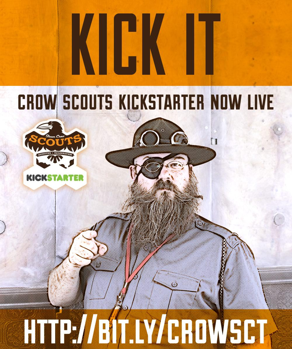The Steam Crow Scouts Kickstarter is now live! http://t.co/RxPOjhRi7o  Earn badges and believe in Monsters! http://t.co/Lg0MxJDEP9