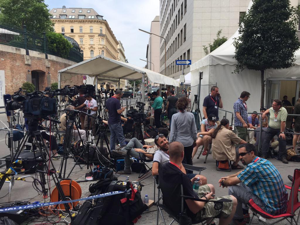 Camping, nuclear style! #IranDeal #IranTalksVienna http://t.co/c6Gri9lbJi