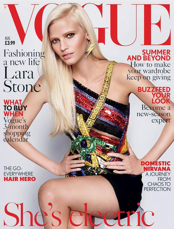 Lara Stone looks AMAZING on 2 Covers of the @BritishVogue August 2015 Issue 😍😍😍 http://t.co/CBNoAVuuAW