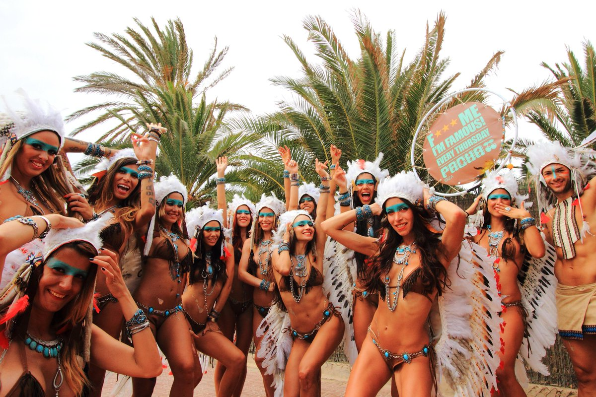 .@FMIFOfficial #PromoTeam in action ! Did you catch them on the island ? :) #Summer2015 #PachaIbiza http://t.co/9dGz39wnJ5