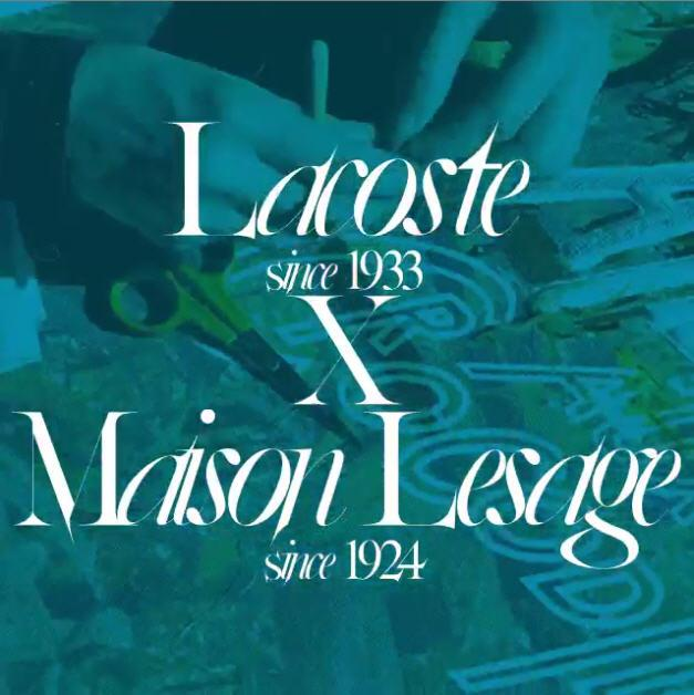 Introducing @LACOSTE #MaisonLesage Couture Polo collect. designed by @felipeoliveirabaptista https://t.co/C7ALN8GNQa http://t.co/LZdJM0nvbC