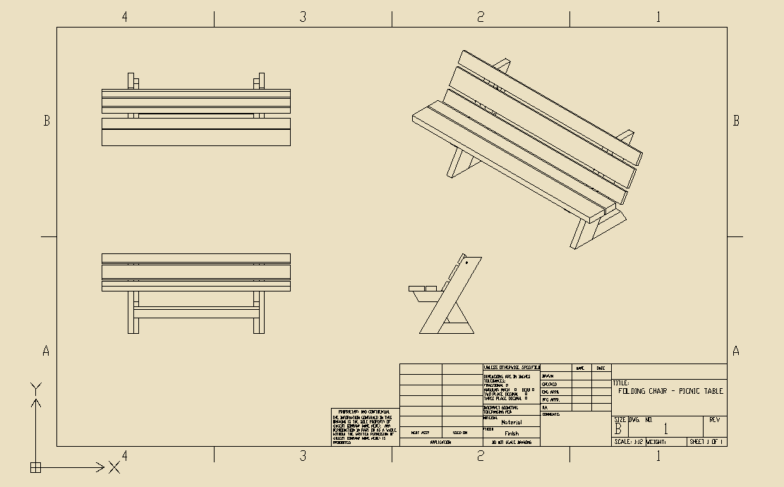 DraftSight On Twitter Download The D DWG File Of This Folding - Picnic table dwg