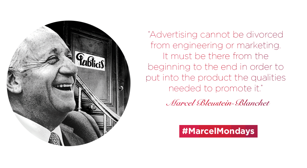 """""""Advertising cannot be divorced from engineering or marketing."""" #MarcelMondays http://t.co/liROoWuuuf"""