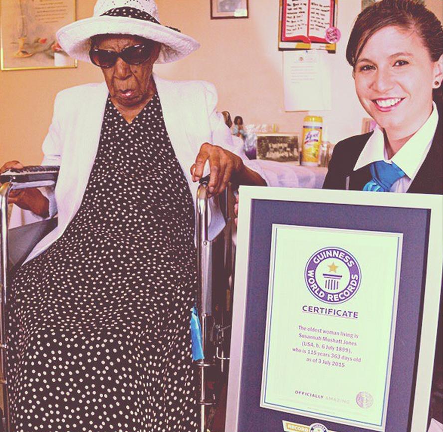 RT @GlobalGrindNews: Oldest living person, Susannah Mushatt Jones, celebrates her 116th birthday today http://t.co/w1QrHclf0l http://t.co/5…
