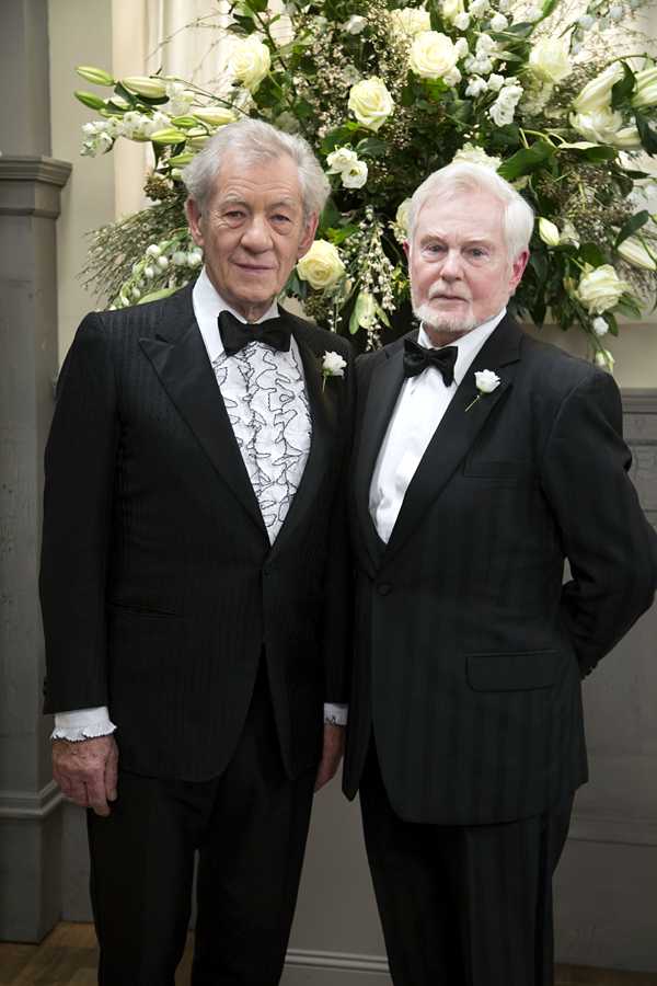 """Aren't we the happy couple? Join us for our @Vicious """"celebration"""" tonight at 9pm on ITV http://t.co/4JKmWQSXec"""